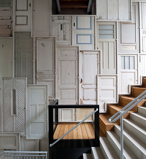 10 Exceptional Repurposed Doors - I've never seen most of these before!  kellyelko.com