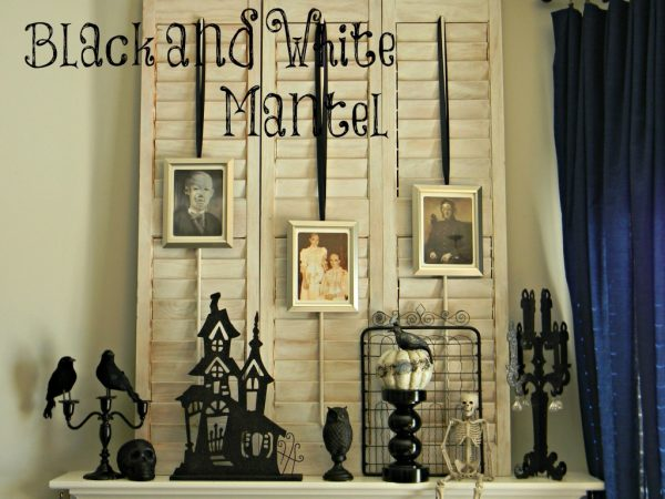 Top 10 Halloween Mantel Ideas - I love every single one!  eclecticallyvintage.com