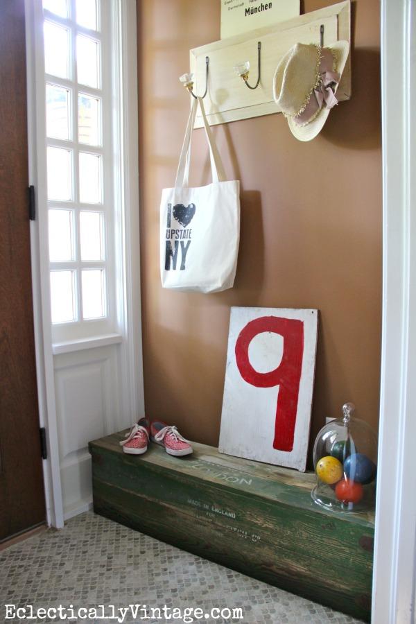 Cute entry - love the vintage croquet set box!  eclecticallyvintage.com