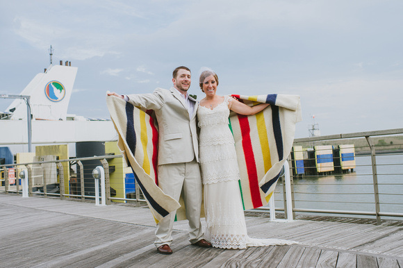 Vintage Wedding Ideas - tons of great DIY ideas for a unique wedding - love the Hudson Bay blanket!