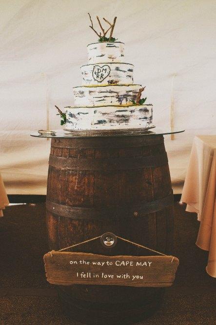 Vintage Wedding Ideas - tons of great DIY ideas for a unique wedding!  Love this birch wedding cake!