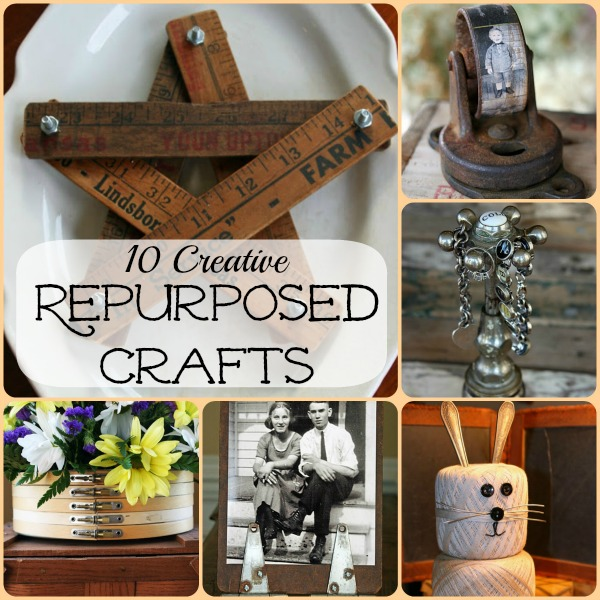 10 Creative Repurposed Crafts - these are truly unique!  eclecticallyvintage.com