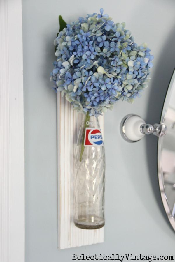 How to make your own bottle wall vase kellyelko.com