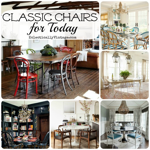 Classic Chairs for Today - these stand the test of time ... with style!  eclecticallyvintage.com