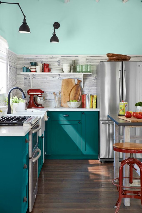 Country Living Magazine House of Year - colorful kitchen designed by Emily Henderson