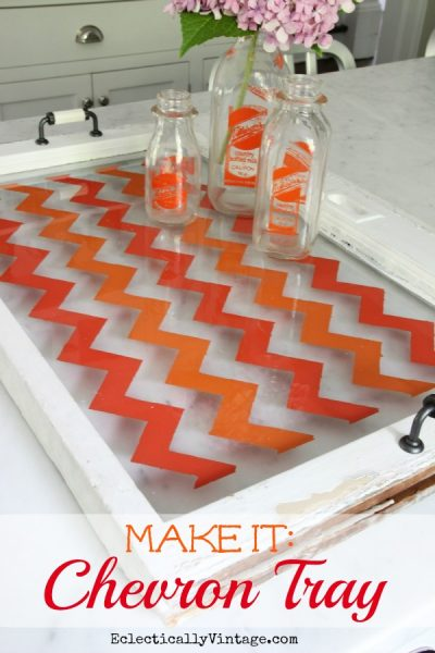 How to Make a Chevron Tray