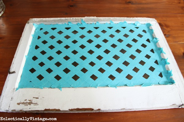 Make a Chevron Tray - with just tape and paint!  kellyelko.com