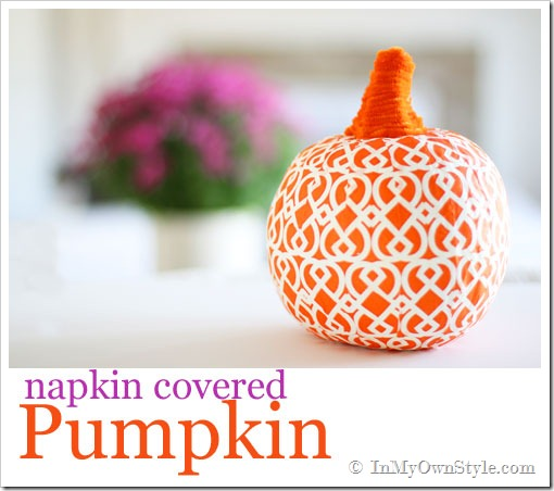 10 Off the Vine Pumpkin Crafts - including this napkin pumpkin!  kellyelko.com