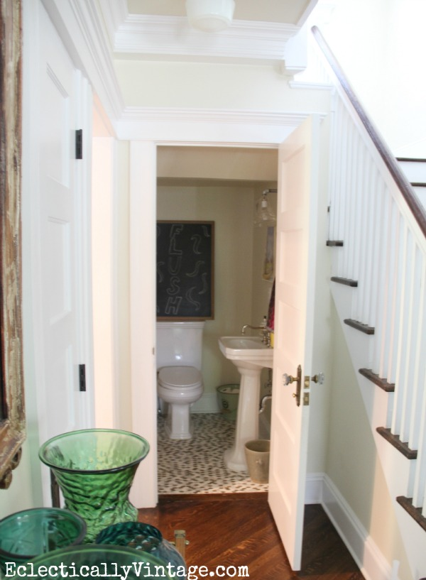 Lighting Basement Washroom Stairs: Small Powder Room