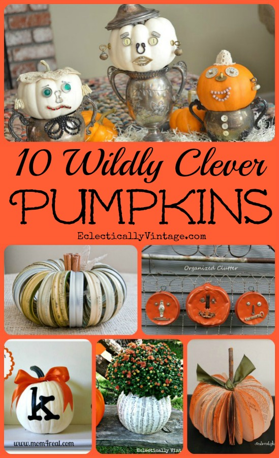 10 Off the Vine Pumpkin Crafts - these are all so clever!  kellyelko.com