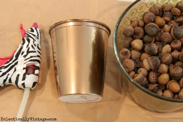 Acorn Craft Supplies - make an acorn vase!  kellyelko.com