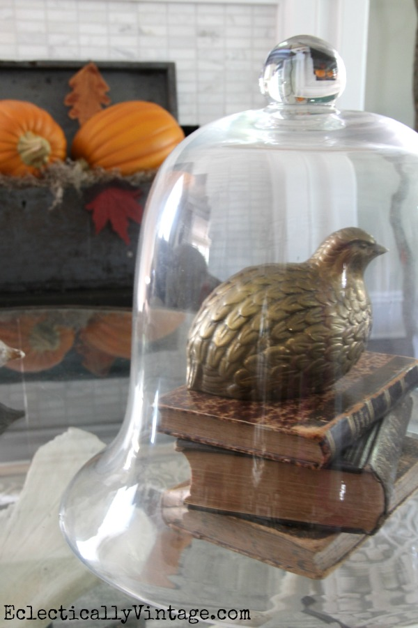 Brass is back - love the vintage quail.  eclecticallyvintage.com