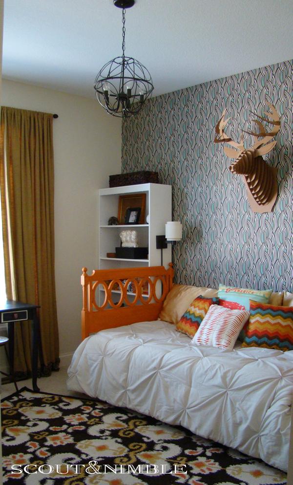 Colorful bedroom kellyelko.com