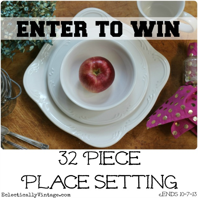 Enter this #giveaway to Win a 32 Piece Dinnerware Set (service for 8)!  eclecticallyvintage.com