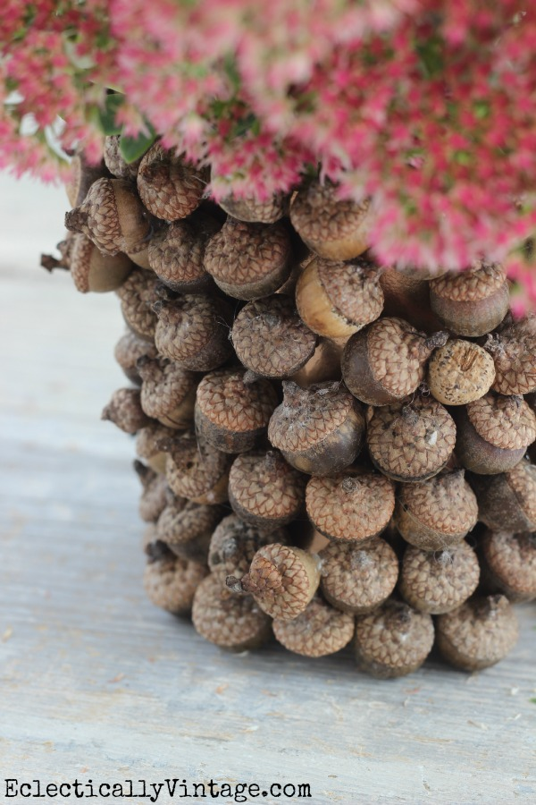 How to make an acorn vase - follow these DIY instructions eclecticallyvintage.com