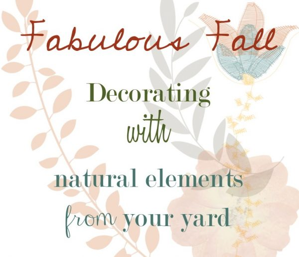 Decorating with Nature - great free ideas!  kellyelko.com