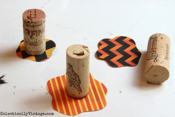 "Paper Pumpkin ""Stems"" - see how to make them  kellyelko.com"