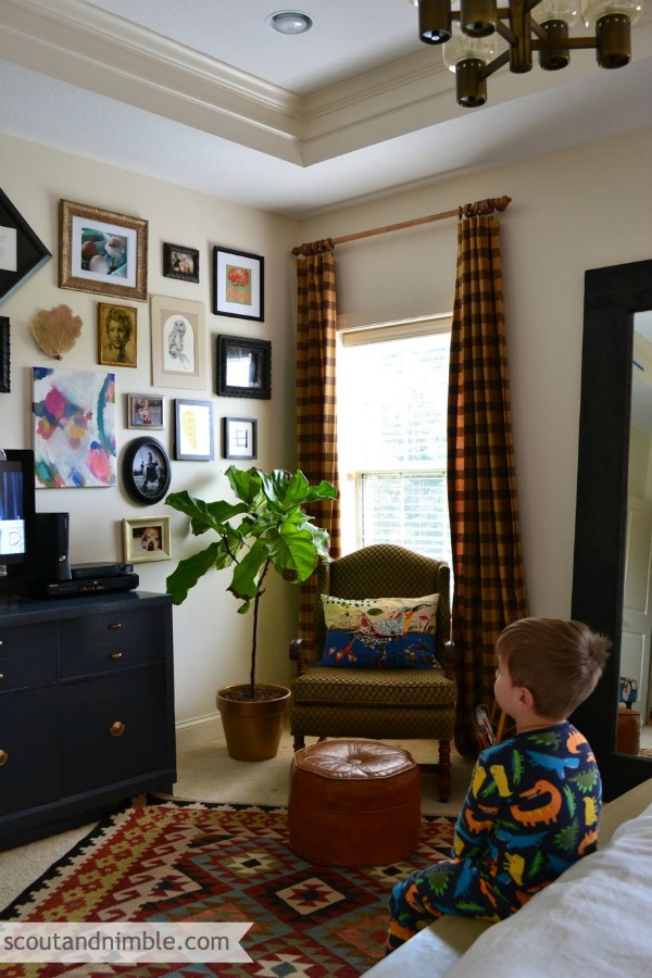 Eclectic Gallery Wall - love the mix!  kellyelko.com