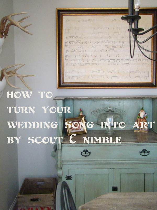 Make wedding song #art - this is such a great idea eclecticallyvintage.com