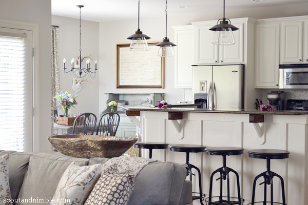 House Tour at Scout and Nimble - love the kitchen/family room combo eclecticallyvintage.com