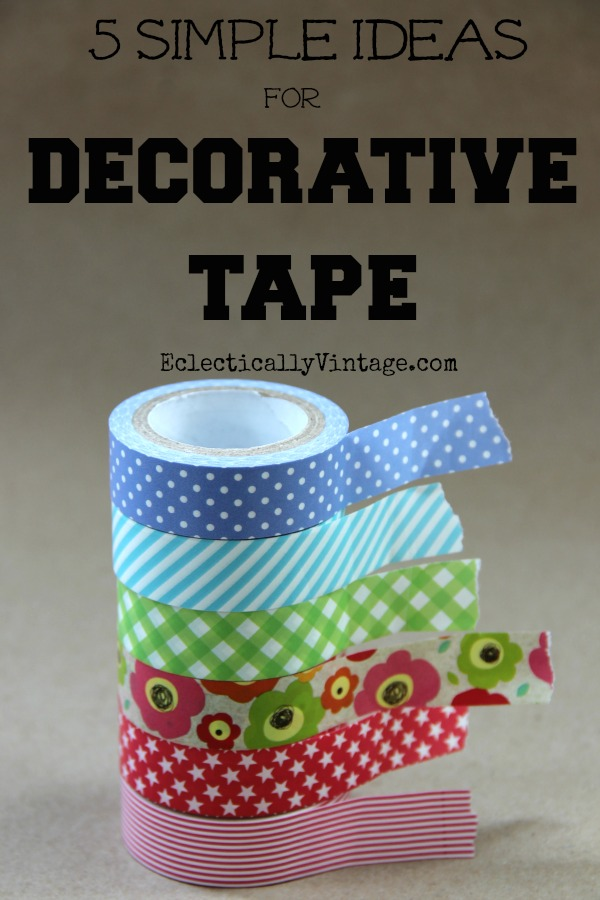 5 Simple Washi Tape Crafts - these are all so much fun and take just minutes!  kellyelko.com