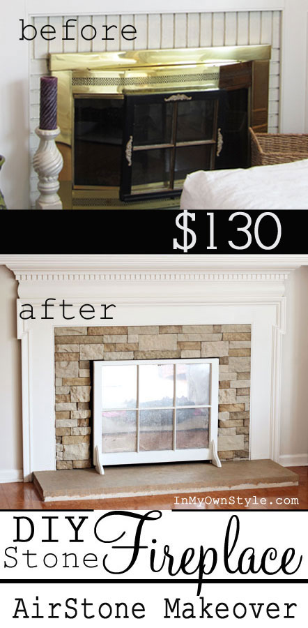 How to make over an ugly fireplace