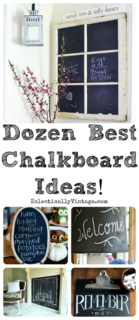 Top 12 chalkboard ideas at eclectically vintage for Chalkboard ideas in kitchen