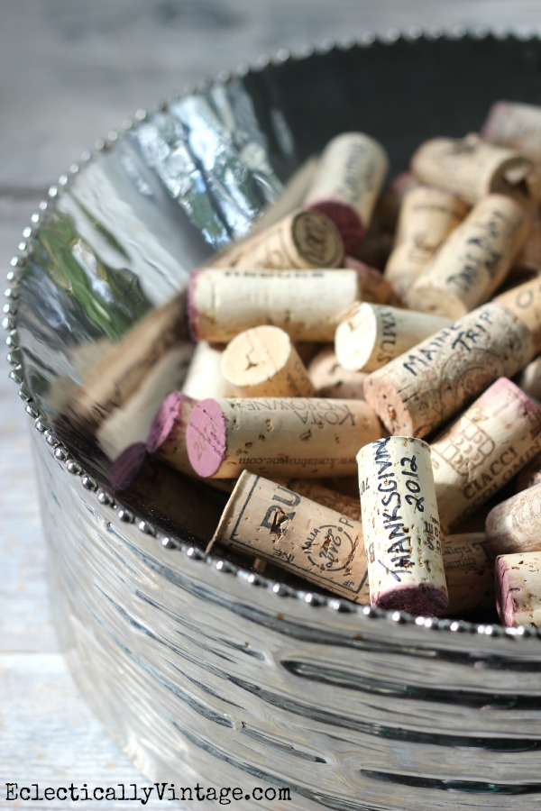 Write Date & Occasion on Corks - instant memories!  kellyelko.com