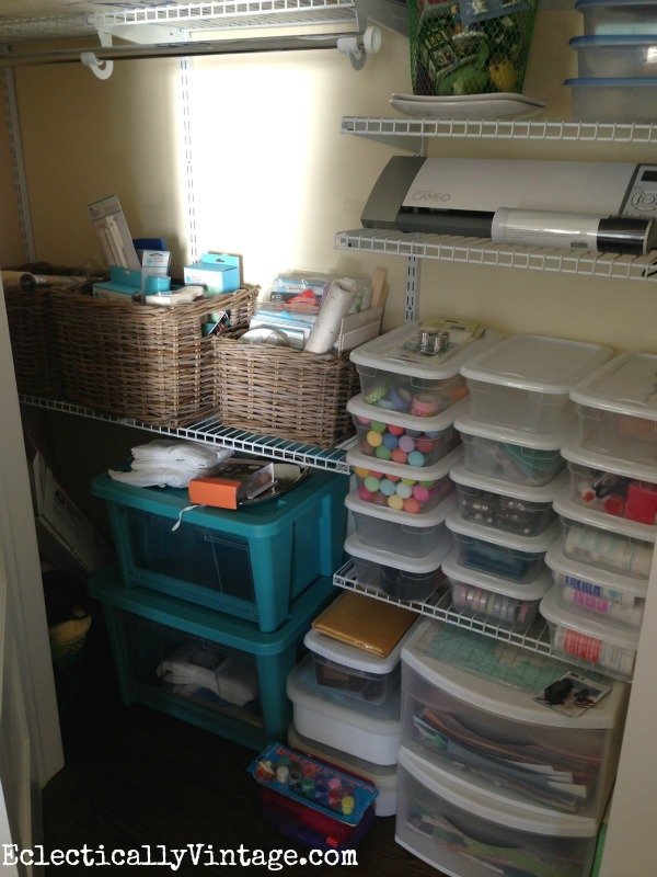 Craft closet organization kellyelko.com
