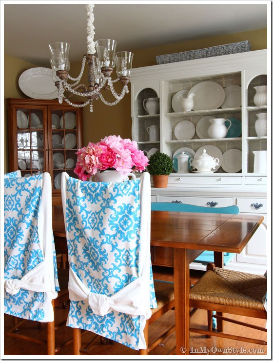 Dining Room and how to slipcover chairs