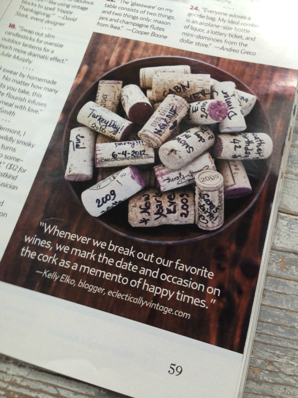Party Tips & Tricks from the Pros - love this idea of writing special occasions on wine corks and saving them!  kellyelko.com