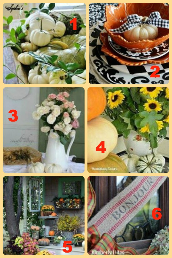 Fall Around the House - tons of great ideas for #fall decorating eclecticallyvintage.com