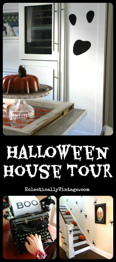 Halloween House Decorating Ideas - tons of creative and inexpensive ideas! kellyelko.com