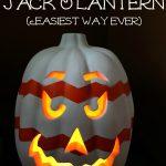 Chevron Jack O'Lantern eclecticallyvintage.com