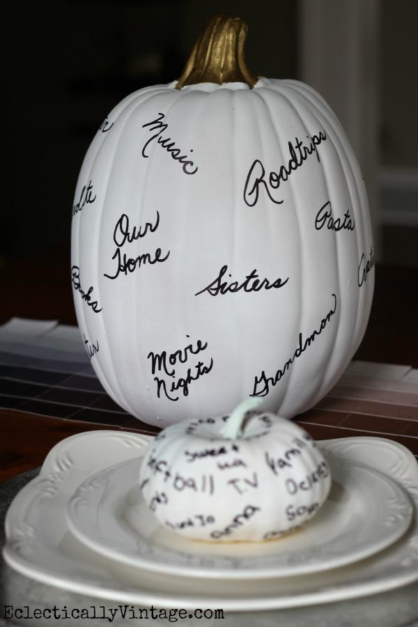 How to make a thankful pumpkin - create fun memories for the whole family kellyelko.com