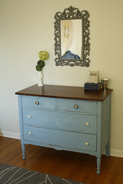 Chalk paint dresser - you can really write on it!