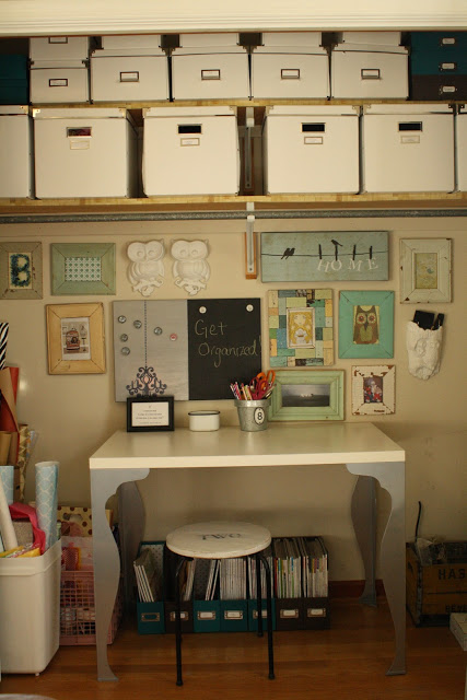 Closet office - perfect when you're tight on space