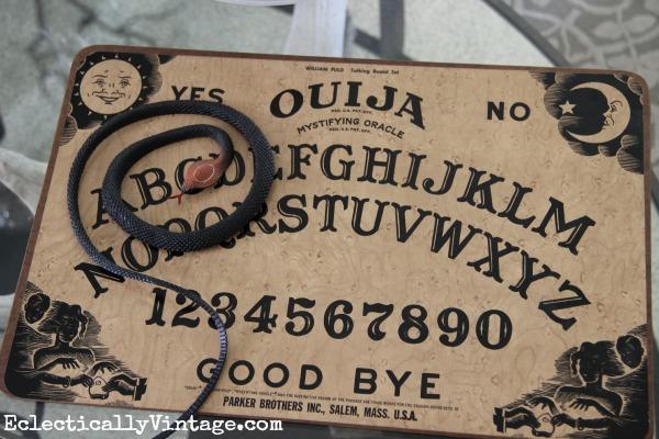 Ouiji board as Halloween decoration kellyelko.com