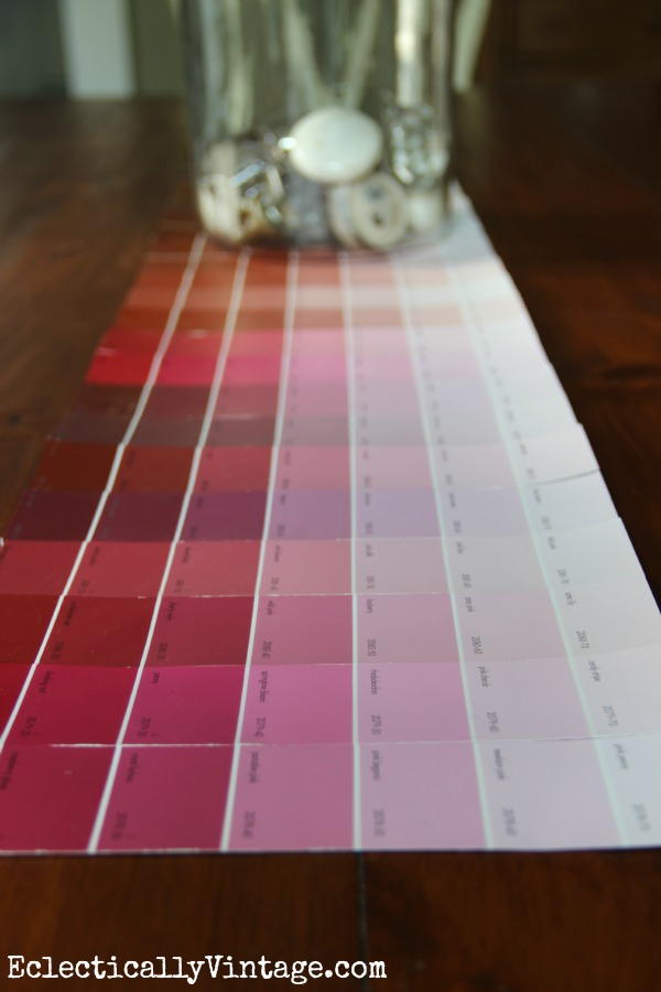 How to Make a Paint Chip Table Runner kellyelko.com