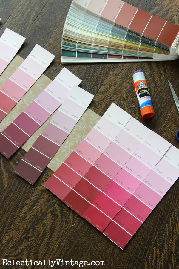 Paint Chip Crafts supply ideas - love this!  kellyelko.com