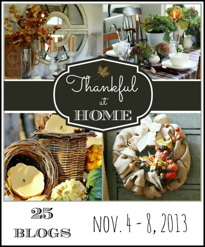 Thankful at Home - 25 Thankful Projects eclecticallyvintage.com