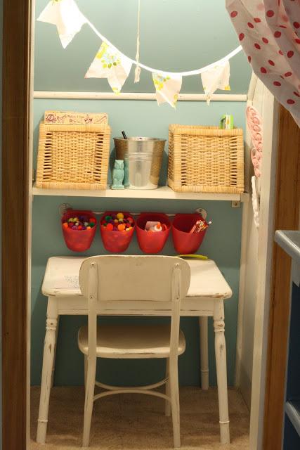 Closet desk space