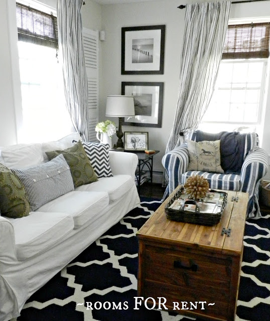 Beautiful blue family room (and house tour)