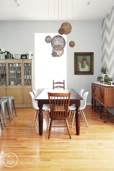 Beautiful dining room and house tour - love the walls!