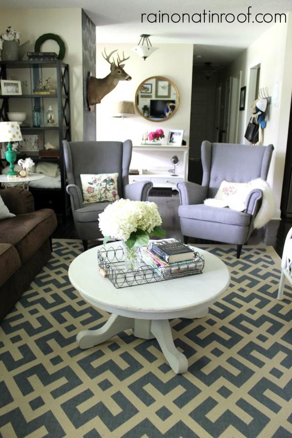 Beautiful family room - love the twin chairs kellyelko.com