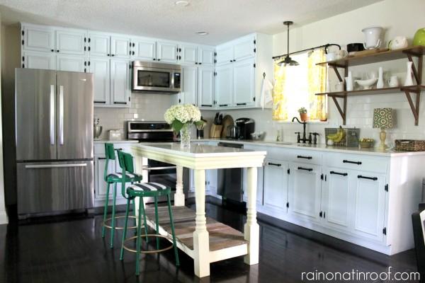 Gorgeous white kitchen renovation - take the tour kellyelko.com