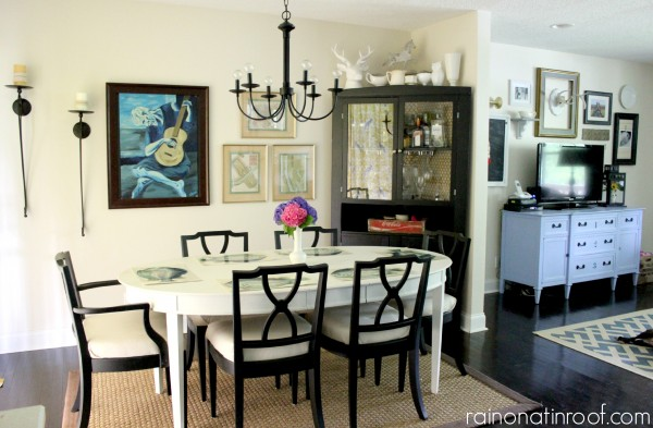 Open dining room - love the art kellyelko.com