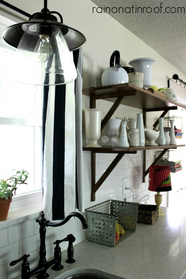 Open kitchen shelving kellyelko.com
