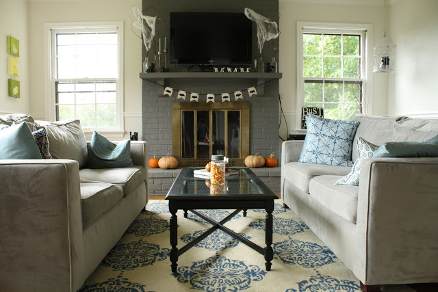 Eclectic family room - part of this cottage home tour