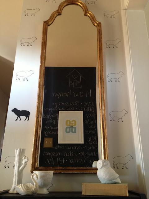 Black sheep stencil - such a fun idea!
